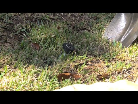 Fixing a leaning sprinkler head
