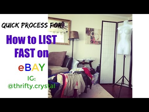How to list FAST on ebay - quick process