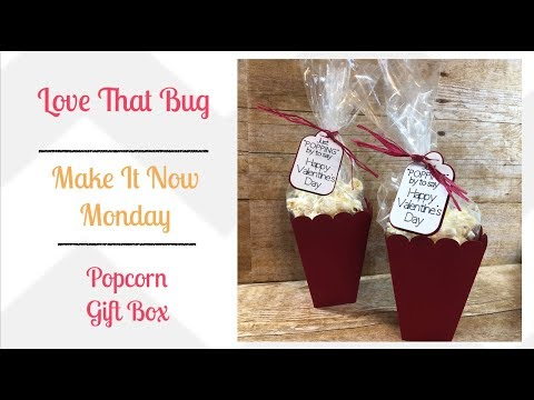 Cricut Explore Popcorn Gift Box