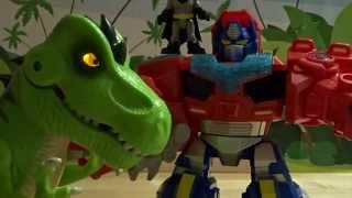 Jurassic World T-Rex vs. Optimus Prime