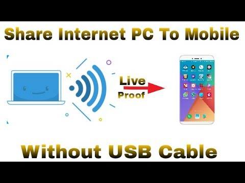 How To Share Internet Connection Form PC To Mobile Without USB Cable || Using PC Wifi Hotspot ||