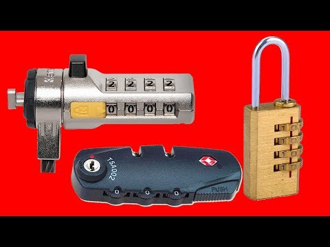 How to open a Combination Lock in a minute WITHOUT TOOLS