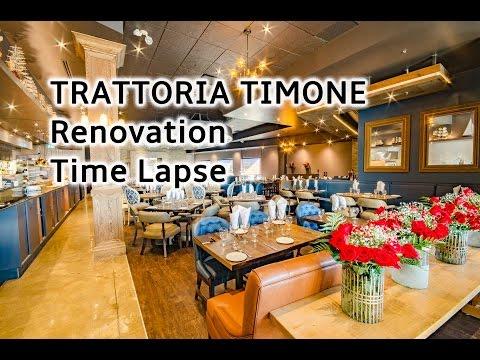 Trattoria Timone - Renovation Timelapse - Oakville's Premier Italian Restaurants