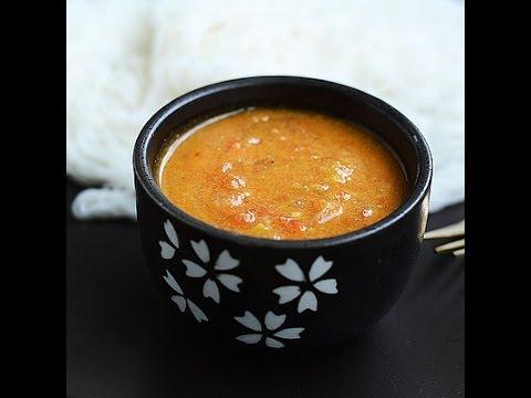 Tomato kurma, thakkali kurma, side dish for idli, dosa, puri