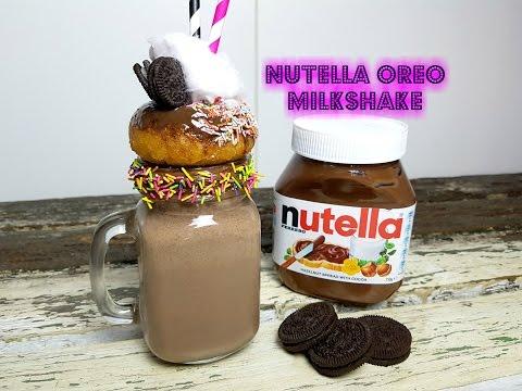 NUTELLA OREO MILKSHAKE - CookingwithKarma