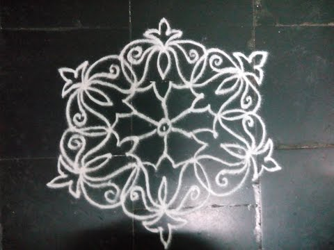 Simple Dotted Kolam With 7 4 Dots Playithub Largest Videos Hub