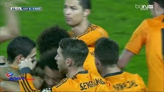 هدف مباراة إسبانيول 0-1 ريال مدريد الدوري الأسباني (2014/1/12) تعليق علي الكعبي [HD]
