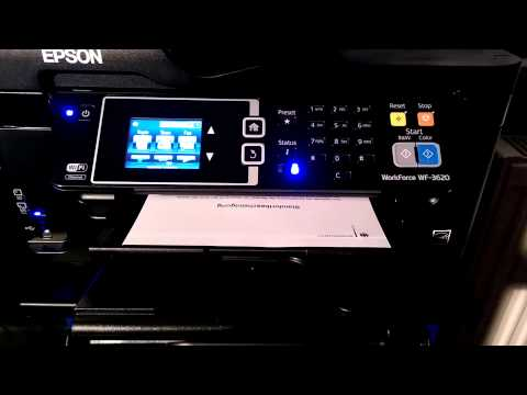 EPSON Workforce WF-3620 printing Duplex