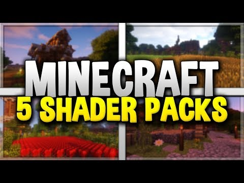 5 MINECRAFT SHADER PACKS! - Top Minecraft Shaders for 1.12