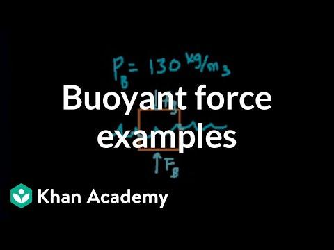Buoyant force example problems | Fluids | Physics | Khan Academy