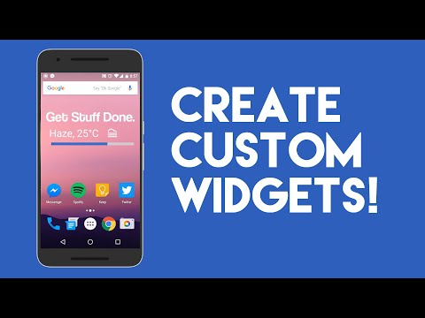 How to Create Stylish Custom Widgets on Android!