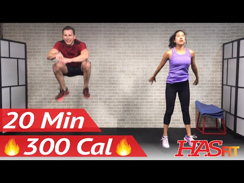 20 Minute HIIT Home Cardio Workout Without Equipment - Full Body HIIT Workout No Equipment at Home