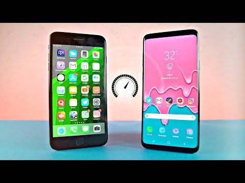 Samsung Galaxy S9 Plus vs iPhone 7 Plus - Speed Test!