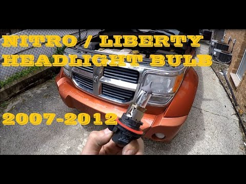 How to change replace Headlight bulb in Dodge Nitro aka Jeep Liberty 2007-2012