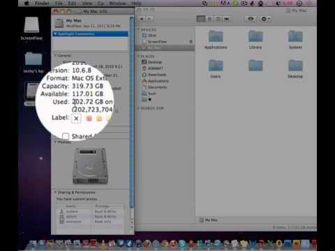 hard drive size for mac