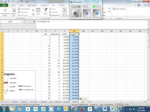 Create Cumulative Percentage Graphs in Excel