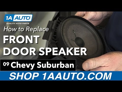How to Install Replace Front Door Speakers 2007-13 Chevy Suburban