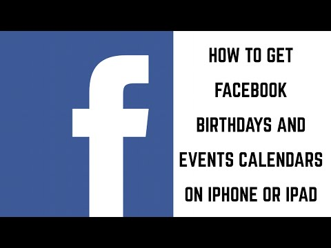 How to Get Facebook Birthdays and Events on iPhone or iPad Calendar