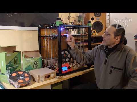 Tronxy X5S vs Sunlu Wood Filament - tips and 50 micron Baby Groot Print - sub EN