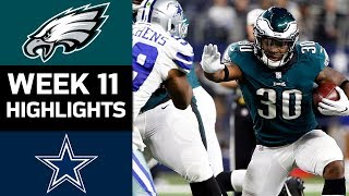 Eagles vs. Cowboys | NFL Week 11 Game Highlights