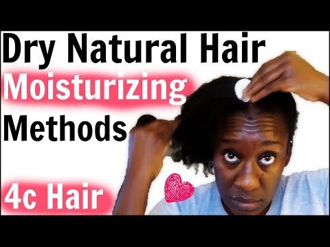 Moisturizing Dry 4c Natural Hair & Oiling Scalp  Retaining Moisture LOC Method