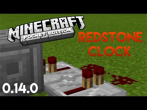 How to make a Redstone Clock in MCPE [2 WAYS]