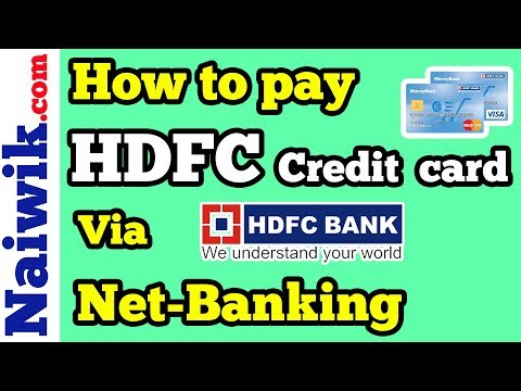 How to pay HDFC credit card bill       Payment via HDFC Bank Net-Banking