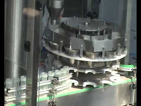 Rotary Powder bottle filling machine , Rotary Powder filler - PET, HDPE, LDPE Bottles