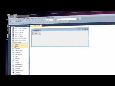 Tutorial 1: Microsoft Visual Studio 2010 - text to speech