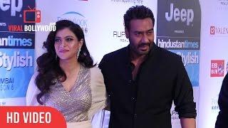 Ajay Devgan and Kajol at HT Most Stylish Awards 2017 | Viralbollywood