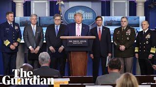 Trump holds 'war on drugs' press conference amid coronavirus pandemic