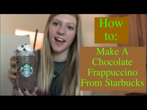 How To: Make A Chocolate Frappuccino From Starbucks