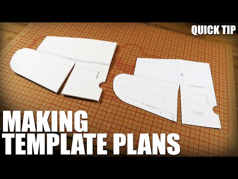 Making Template Plans - Quick Tip   Flite Test