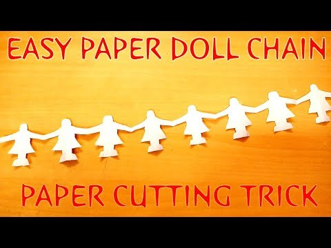 How To Make an Origami Paper Chain Of Doll 2018