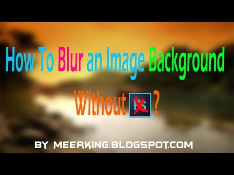 How To Blur An Image Background Without Photoshop ? - Best Online Photo Editor