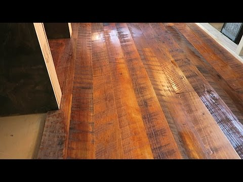 #JaxAcrossAmerica VLOG 55: Installing + Finishing Reclaimed Hardwood Floors
