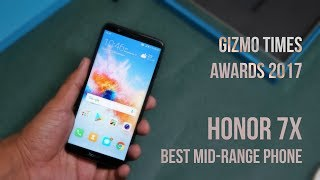 Honor 7x wins Gizmo Times Awards 2017 - Best Features