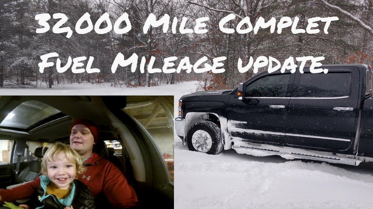 2018 Duramax 32000 mile total Fuel Mileage Results