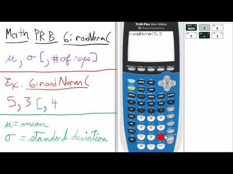 Probability Random Number from Specified Normal Distribution TI 84 Calculator Stats