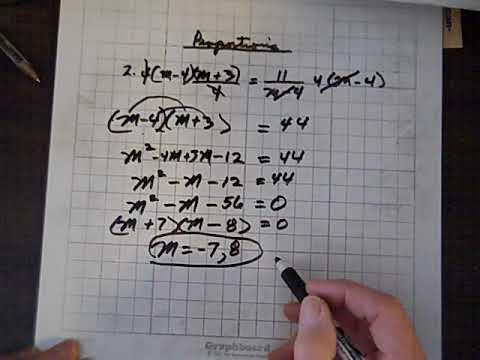 Intermediate Algebra Proportions