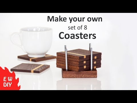 How to make a set of coasters