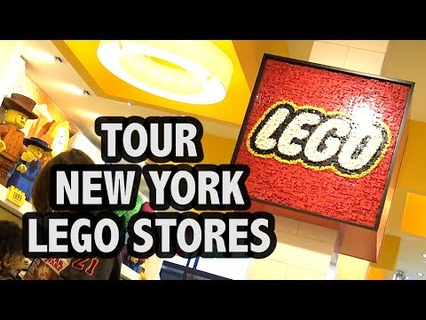Inside Both Manhattan LEGO Stores (New York City)