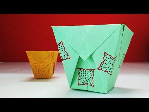 How To Make Origami Paper Bin | Dustbin | Thrash Bin | Origami Trash Can