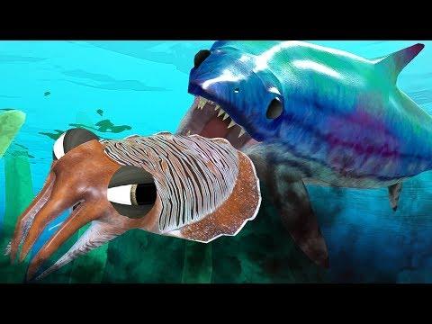 UNLOCKED ICHTHYOSAURUS vs NEW CUTTLEFISH - Feed and Grow Fish - Part 53 | Pungence
