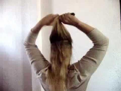 One - Time Hair Flips Half Bun
