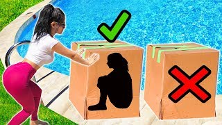 Dont Push The Wrong Mystery Box Into The Pool (you Decide)