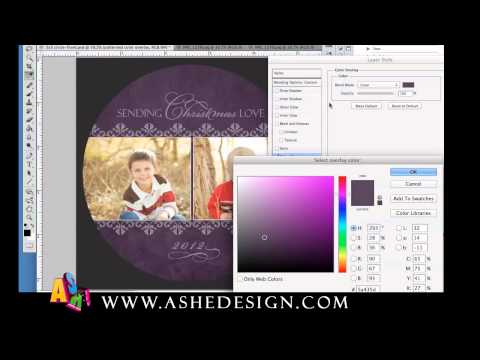 How To Change Template Colors in Photoshop
