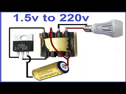 1.5 volts to 220 AC Inverter