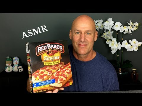 ASMR Eating Red Baron French Bread Pizza and Crispy Fries~No Talking