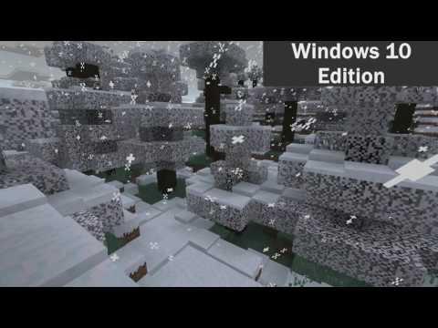 Minecraft Visual Comparison - Java Vs Win 10 [Snow]